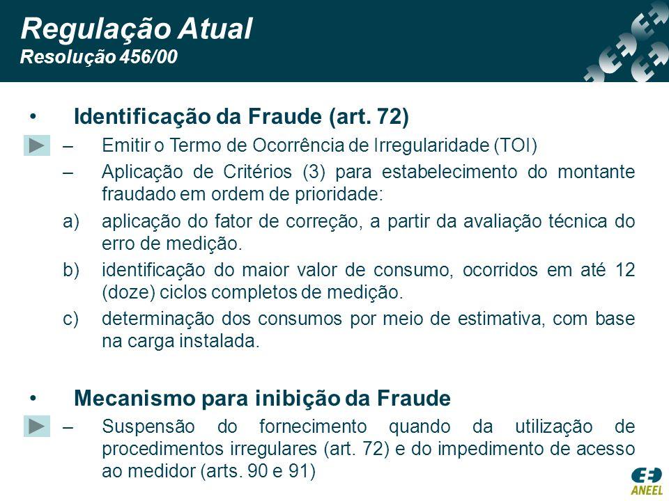 Regulação Atual Identificação da Fraude (art. 72)