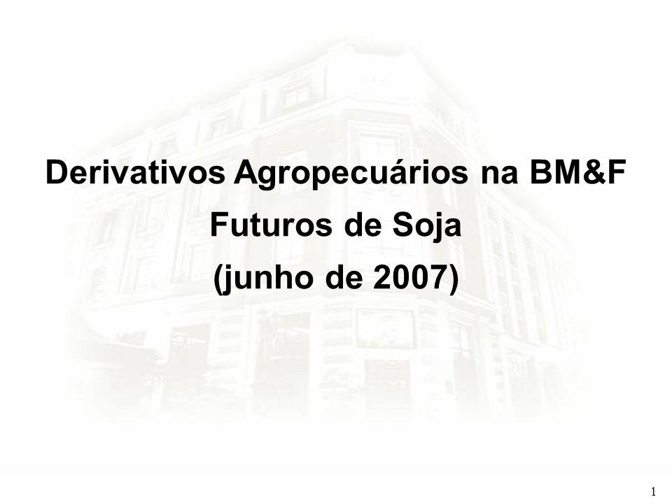 Derivativos Agropecuários na BM&F Futuros de Soja (junho de 2007)