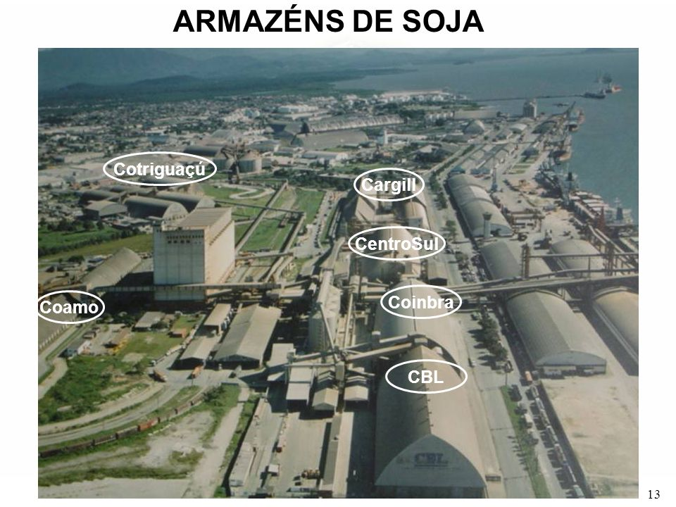 ARMAZÉNS DE SOJA Cotriguaçú Cargill CentroSul Coinbra Coamo CBL