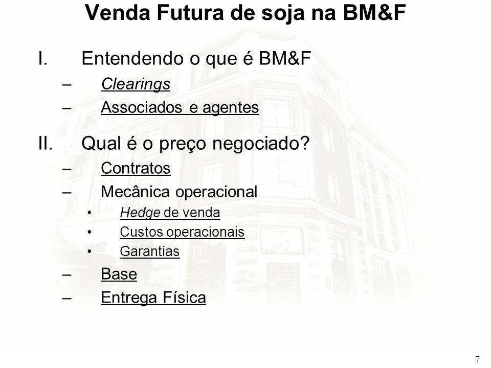 Venda Futura de soja na BM&F