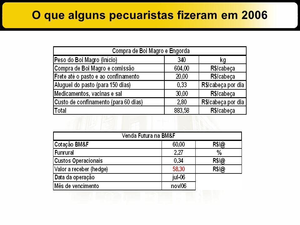O que alguns pecuaristas fizeram em 2006