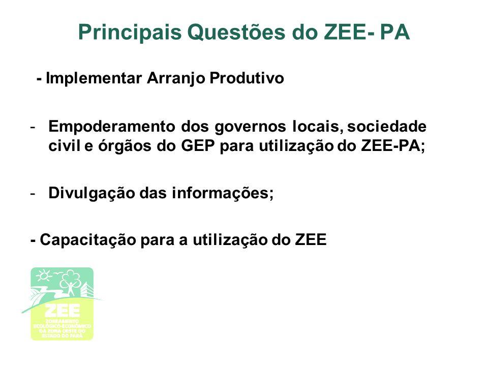 Principais Questões do ZEE- PA