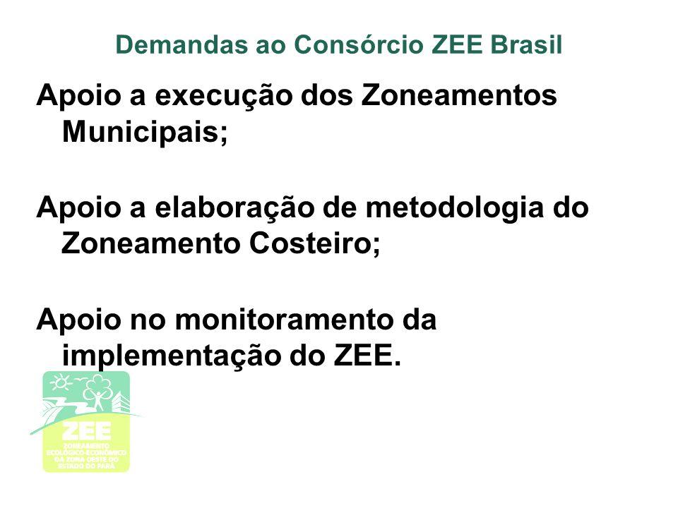 Demandas ao Consórcio ZEE Brasil