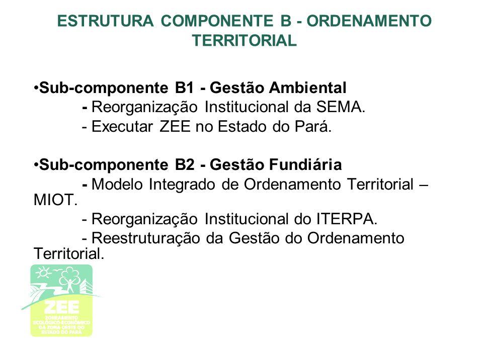 ESTRUTURA COMPONENTE B - ORDENAMENTO TERRITORIAL