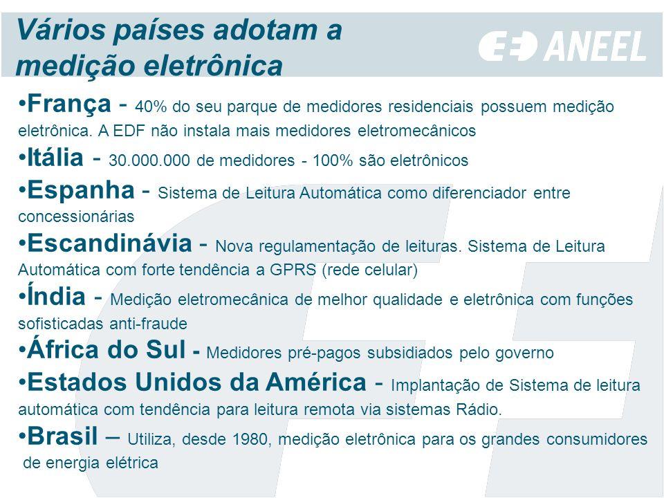 Vários países adotam a medição eletrônica
