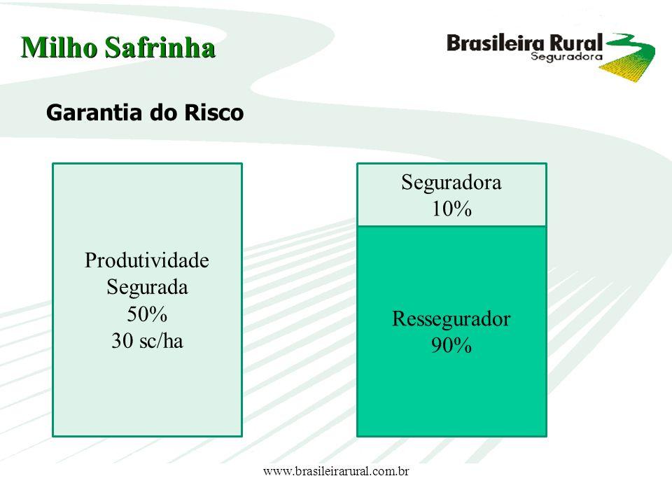 Milho Safrinha Garantia do Risco Seguradora 10% Produtividade Segurada