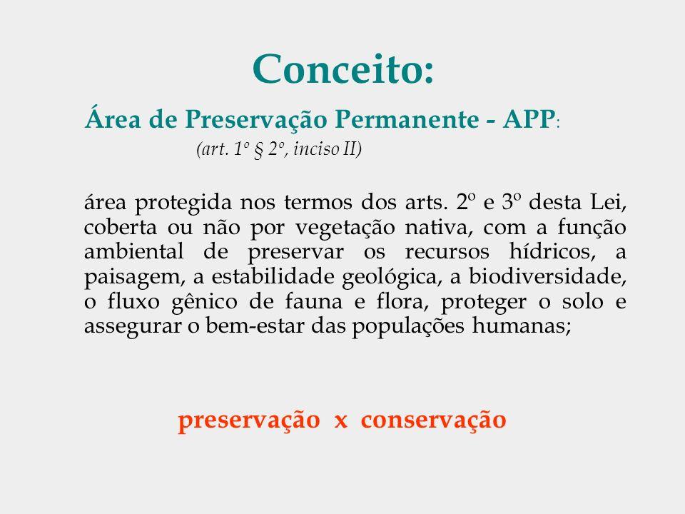 preservação x conservação
