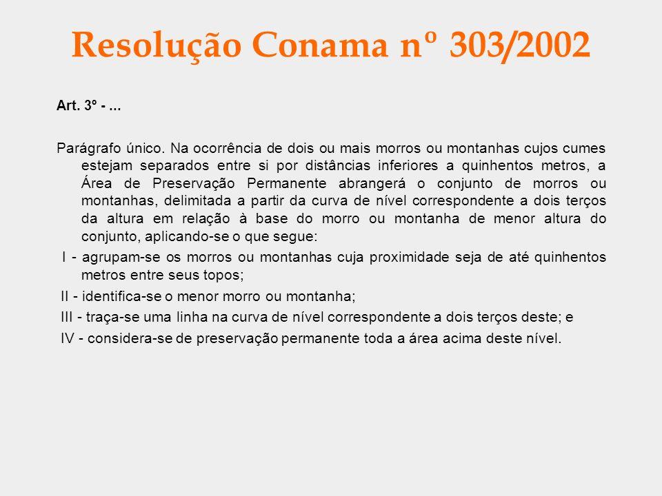 Resolução Conama nº 303/2002 Art. 3º - ...
