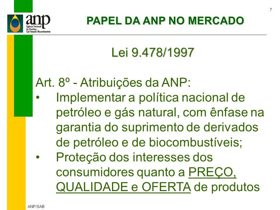 Art. 8º - Atribuições da ANP: