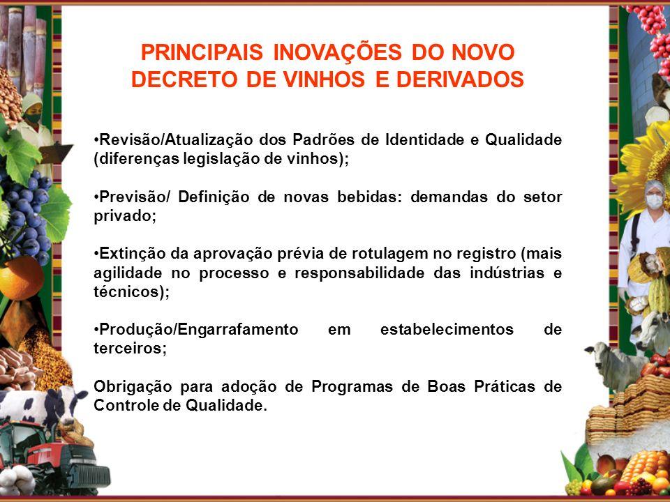 PRINCIPAIS INOVAÇÕES DO NOVO DECRETO DE VINHOS E DERIVADOS