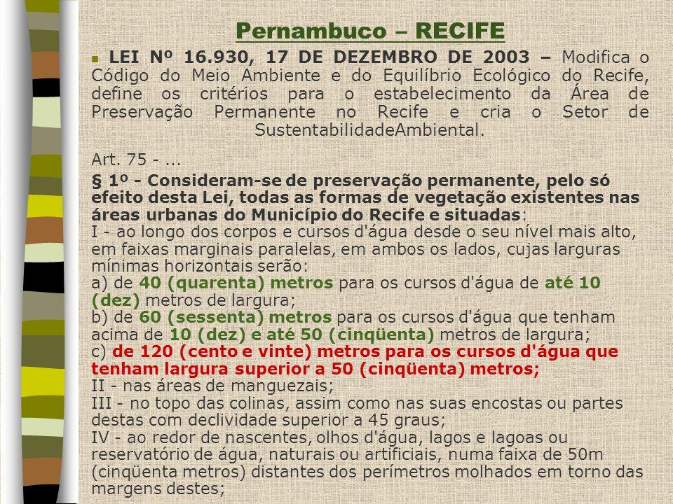 Pernambuco – RECIFE Art. 75 - ...