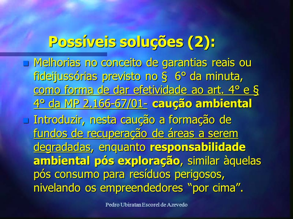 Possíveis soluções (2):