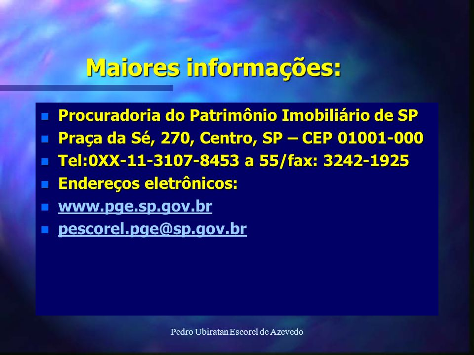 Pedro Ubiratan Escorel de Azevedo
