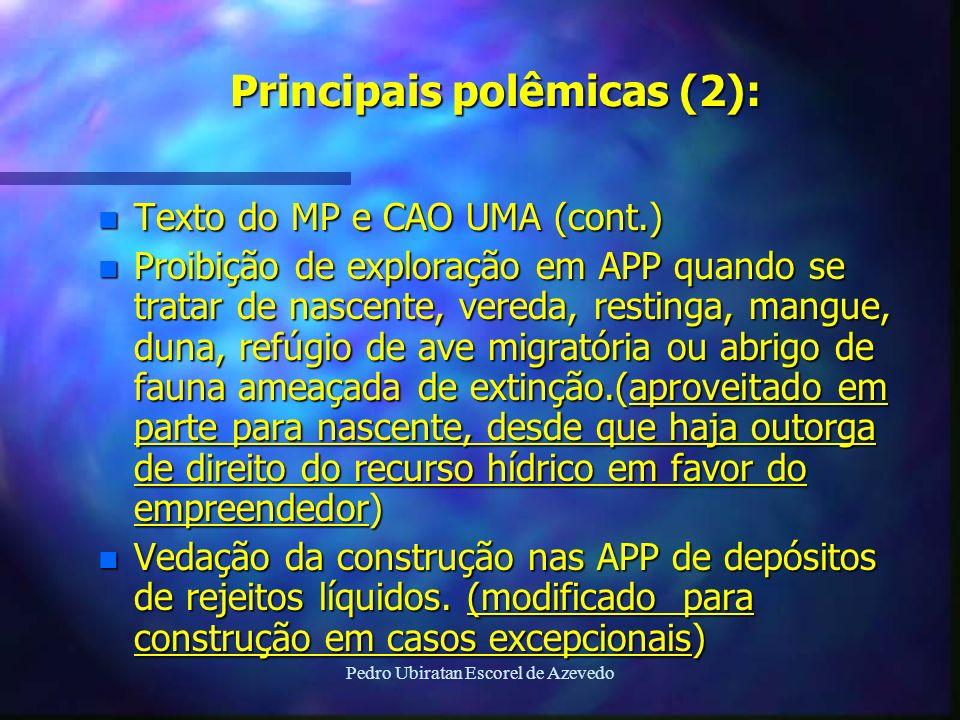 Principais polêmicas (2):