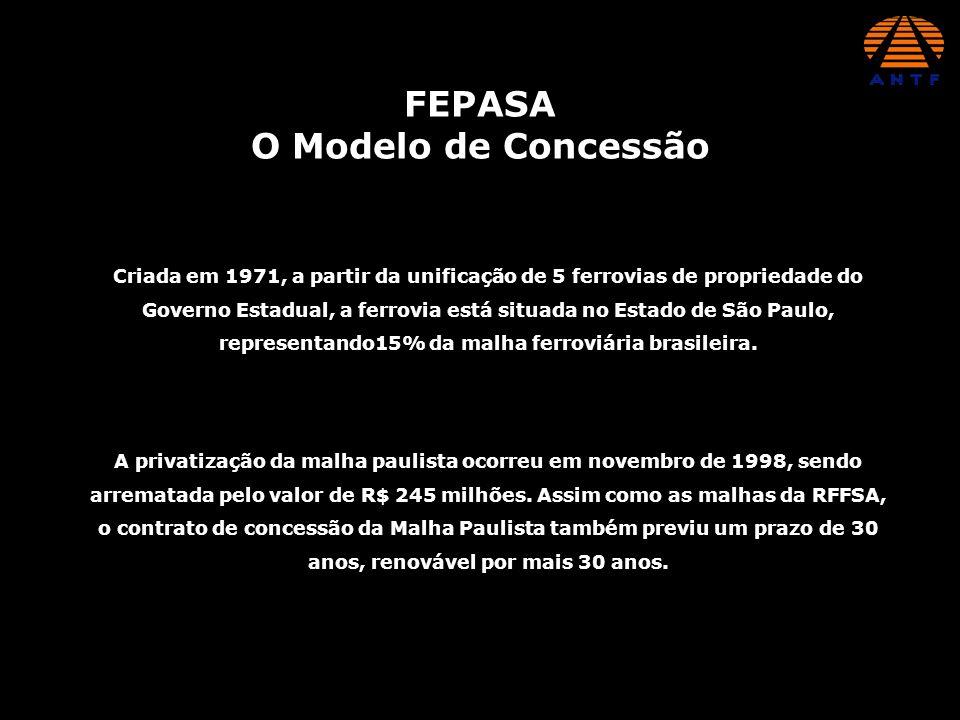 FEPASA O Modelo de Concessão