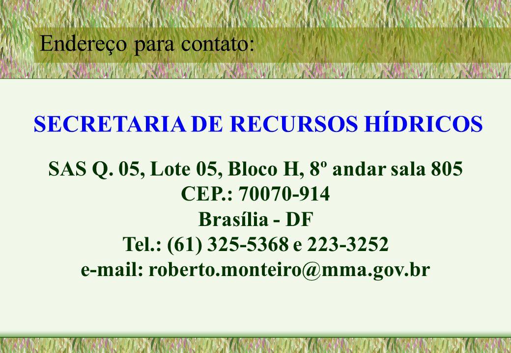 SECRETARIA DE RECURSOS HÍDRICOS