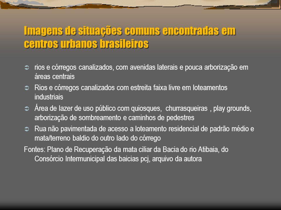 Imagens de situações comuns encontradas em centros urbanos brasileiros