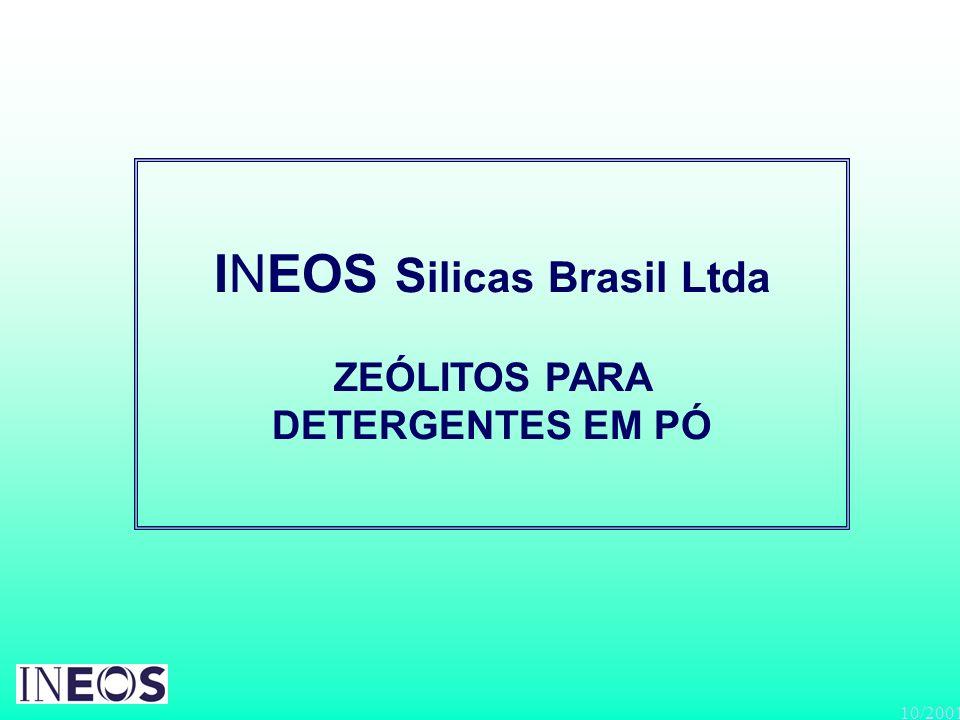 INEOS Silicas Brasil Ltda ZEÓLITOS PARA DETERGENTES EM PÓ