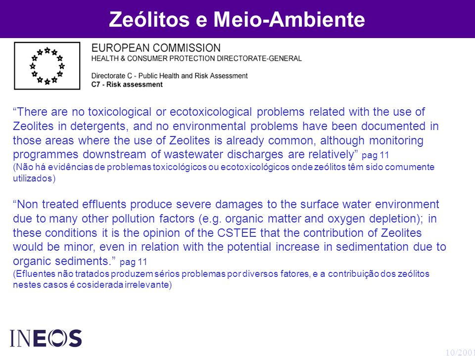 Zeólitos e Meio-Ambiente