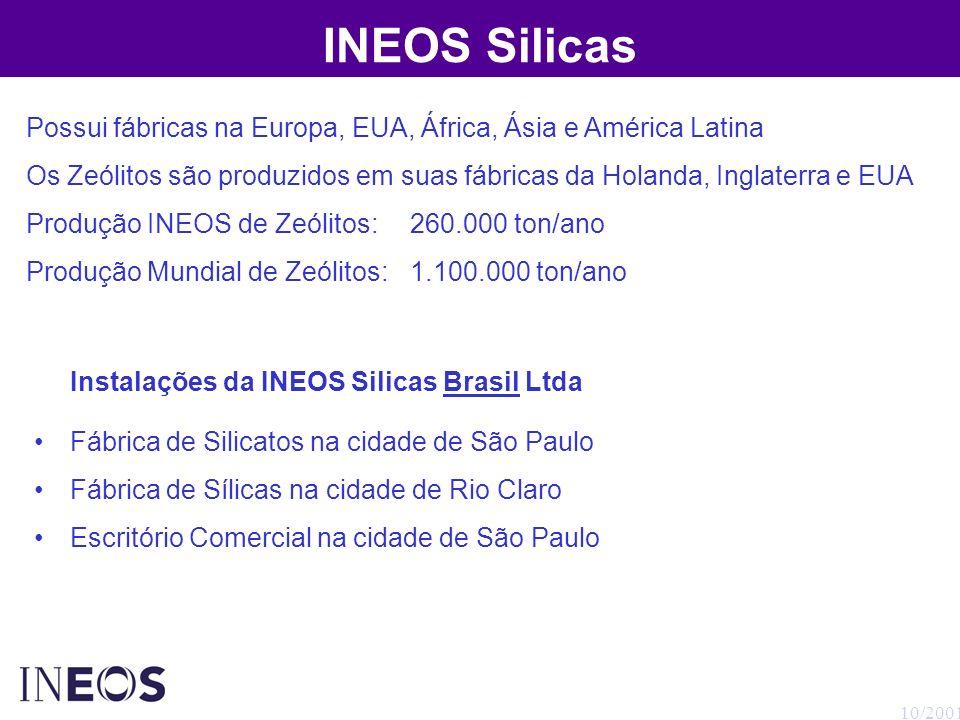 INEOS Silicas Possui fábricas na Europa, EUA, África, Ásia e América Latina.