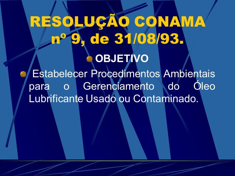 RESOLUÇÃO CONAMA nº 9, de 31/08/93.