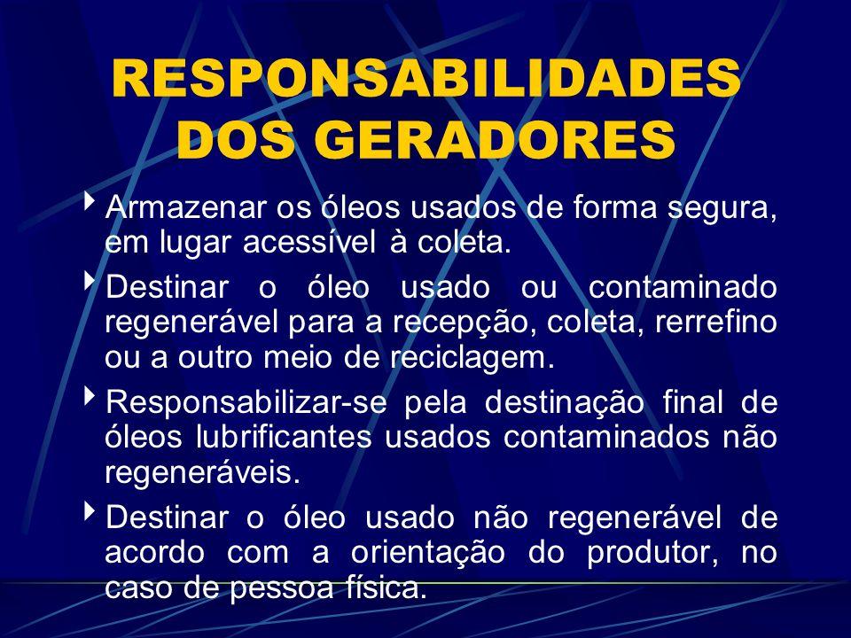 RESPONSABILIDADES DOS GERADORES