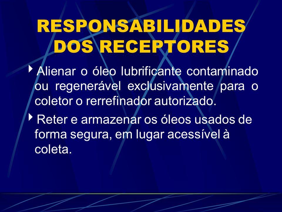 RESPONSABILIDADES DOS RECEPTORES