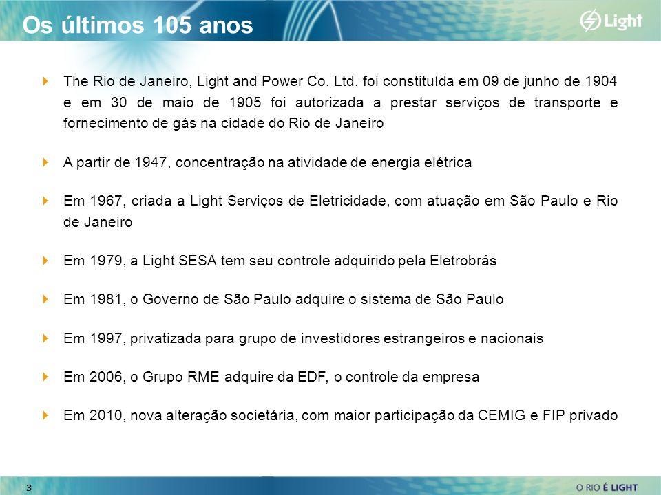 Os últimos 105 anos