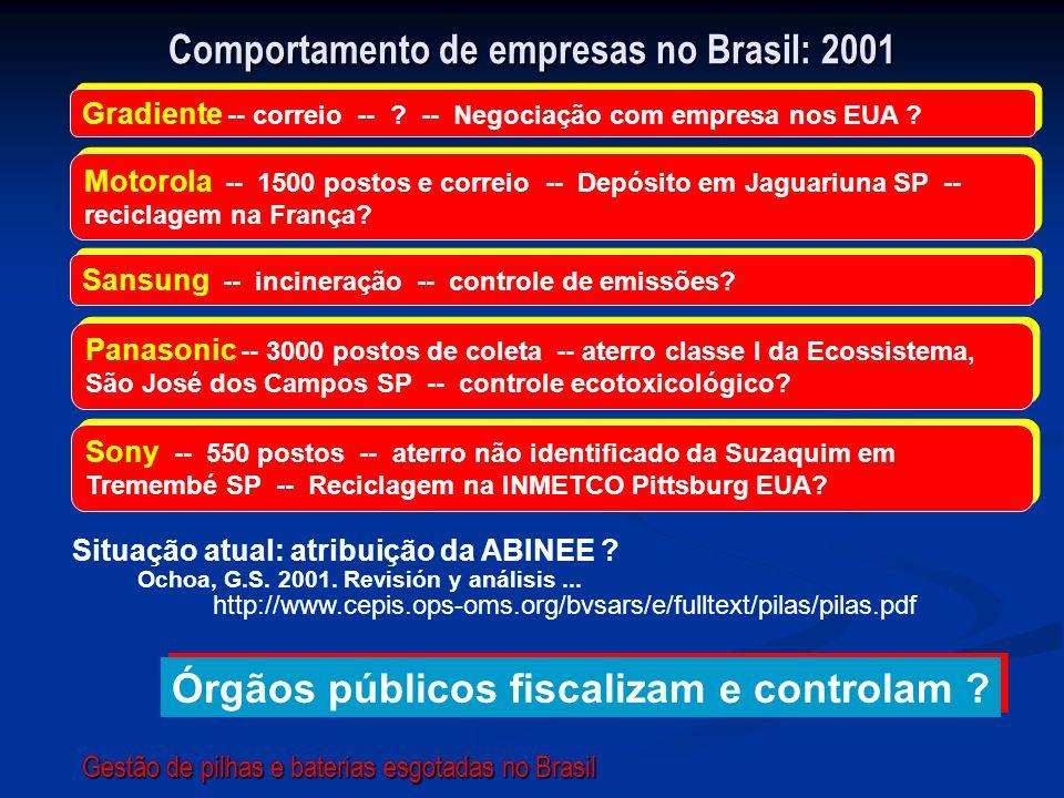 Comportamento de empresas no Brasil: 2001