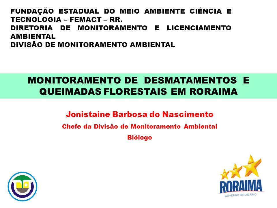 MONITORAMENTO DE DESMATAMENTOS E QUEIMADAS FLORESTAIS EM RORAIMA