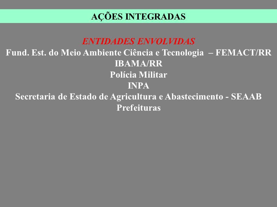 Fund. Est. do Meio Ambiente Ciência e Tecnologia – FEMACT/RR IBAMA/RR