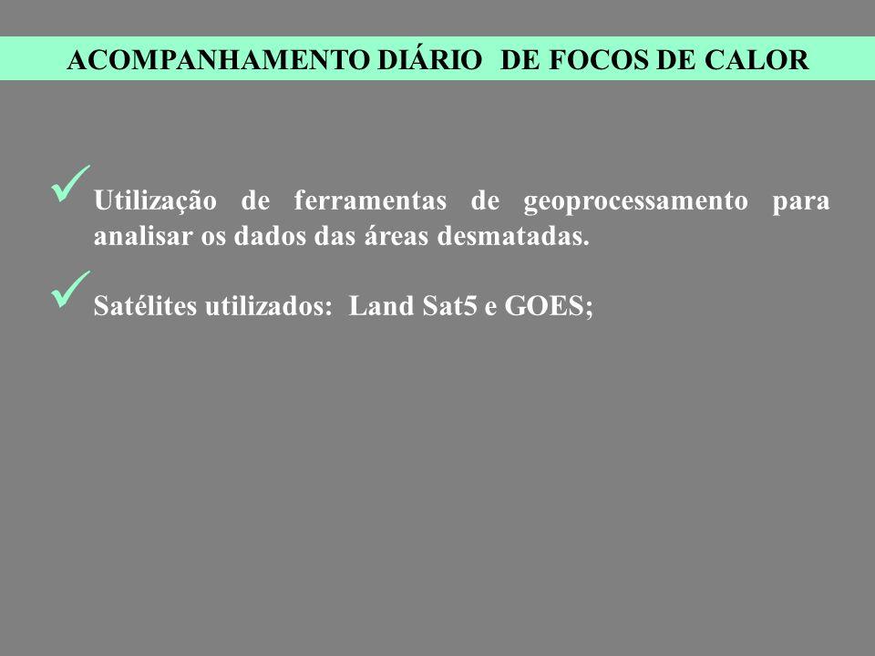ACOMPANHAMENTO DIÁRIO DE FOCOS DE CALOR
