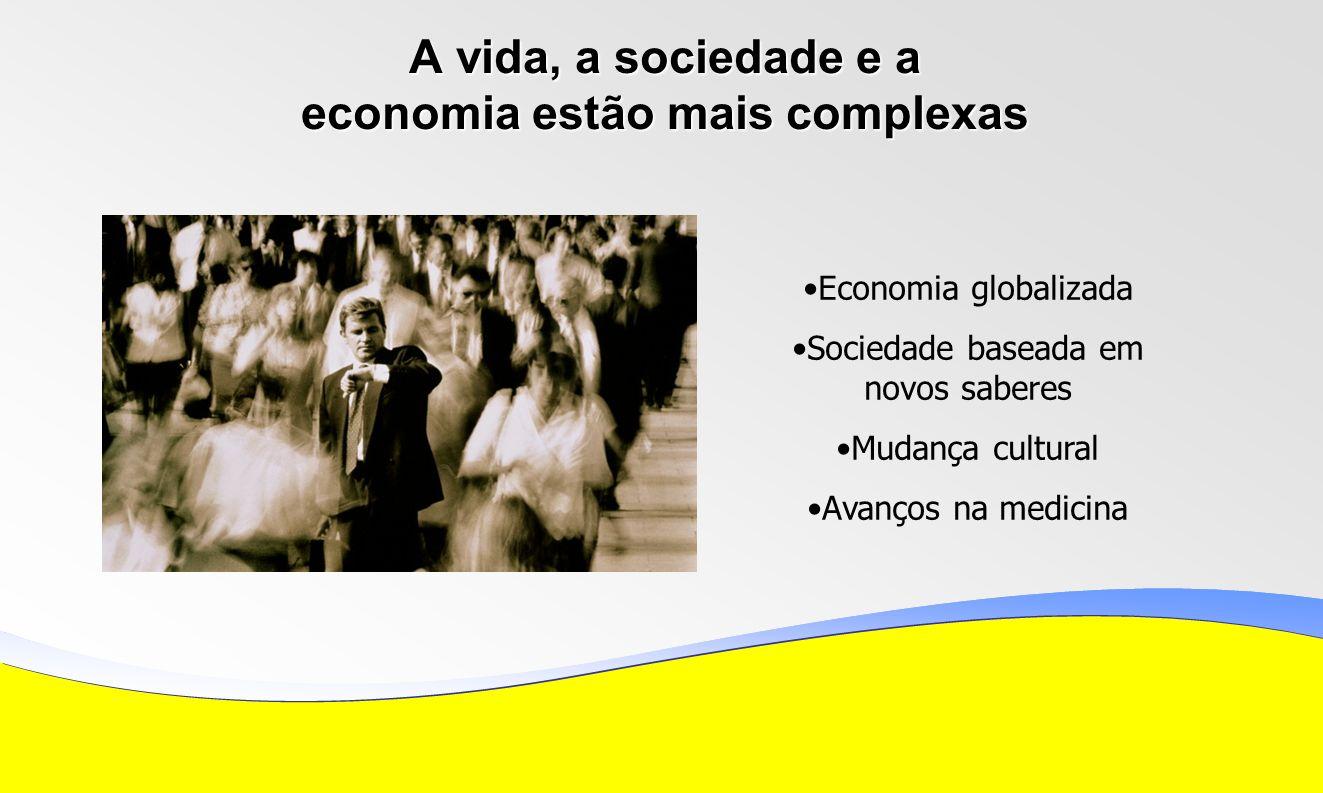 A vida, a sociedade e a economia estão mais complexas