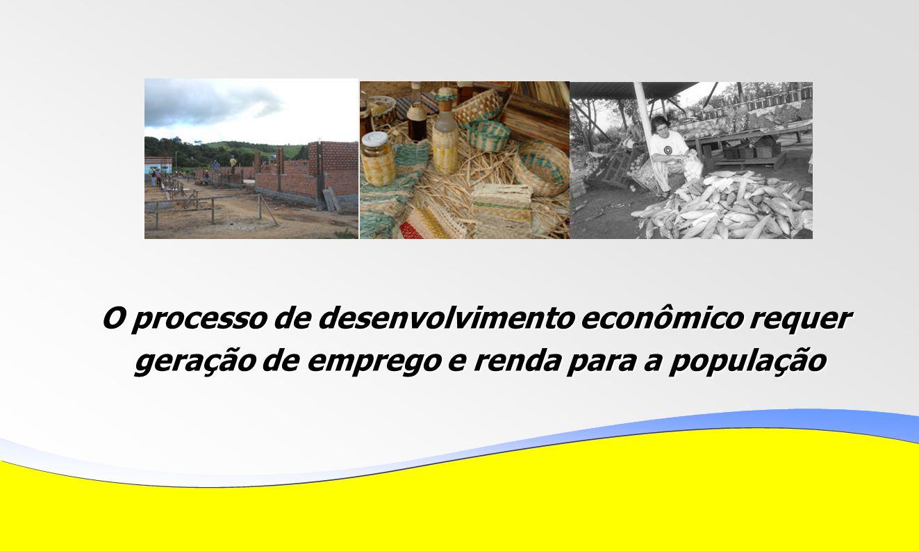 O processo de desenvolvimento econômico requer