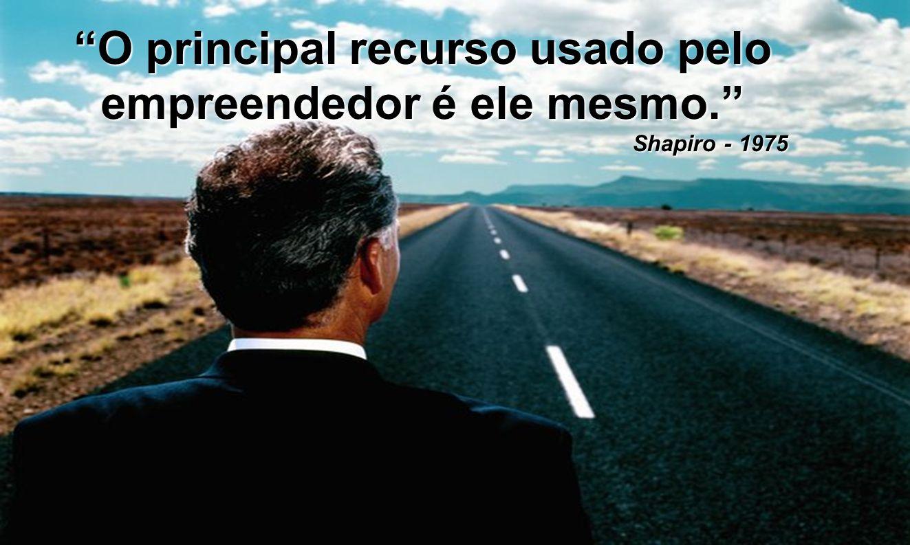 O principal recurso usado pelo empreendedor é ele mesmo.