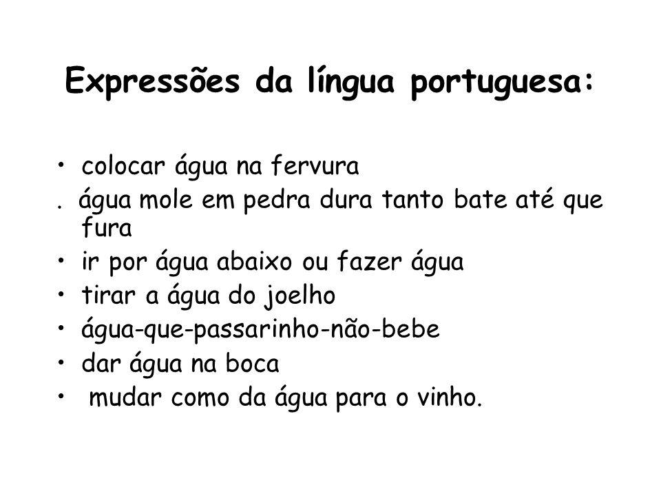 Expressões da língua portuguesa: