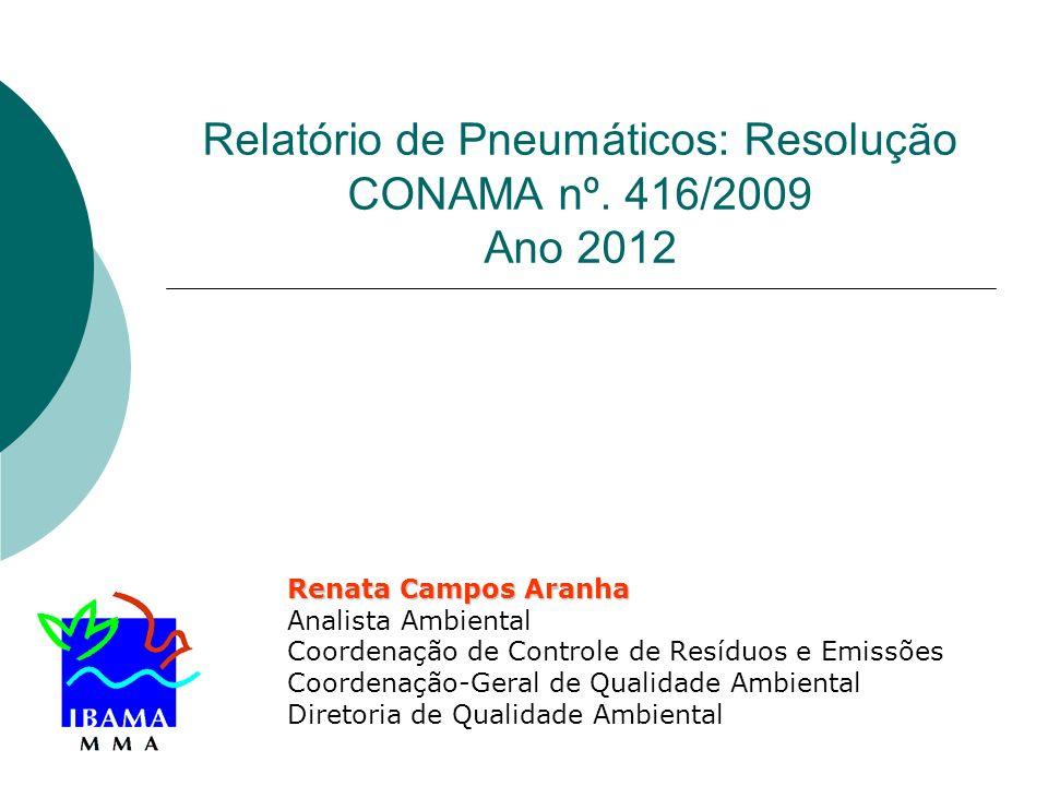 Relatório de Pneumáticos: Resolução CONAMA nº. 416/2009 Ano 2012
