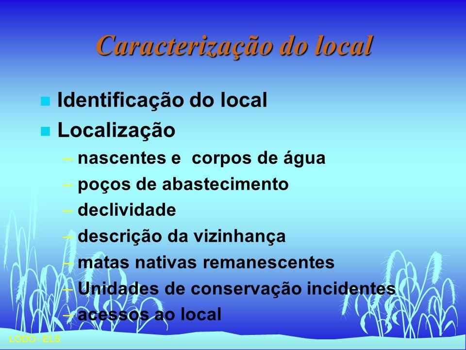 Caracterização do local