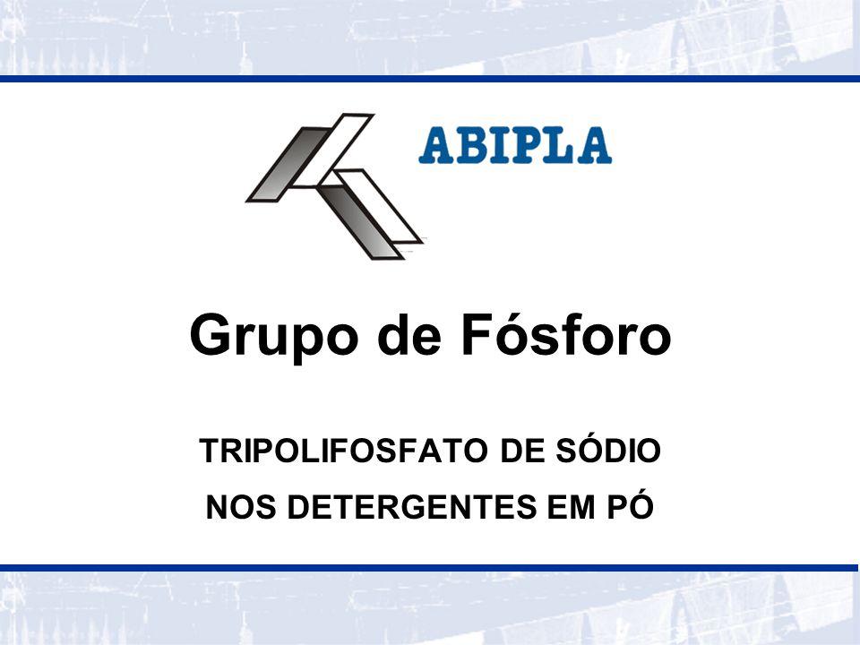 TRIPOLIFOSFATO DE SÓDIO NOS DETERGENTES EM PÓ
