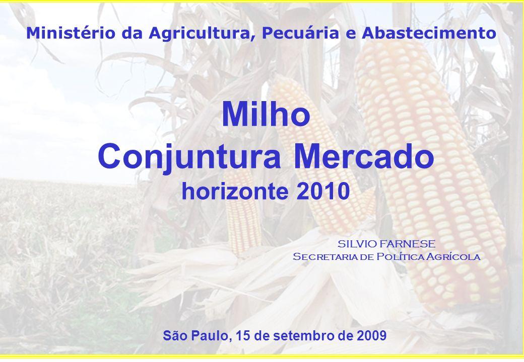 Milho Conjuntura Mercado horizonte 2010
