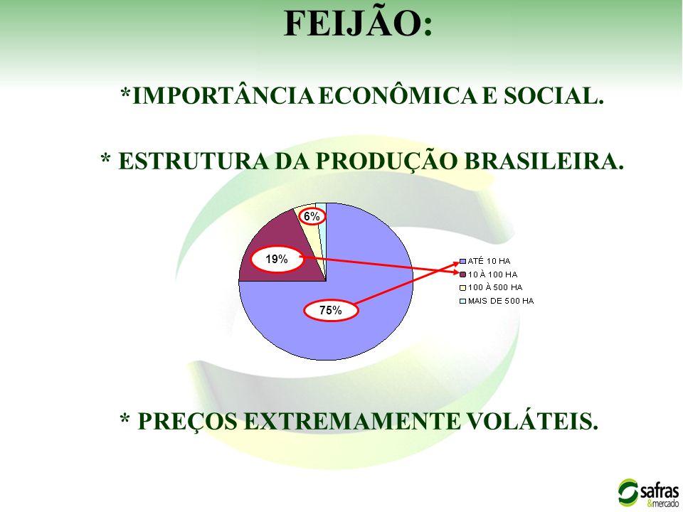 FEIJÃO: *IMPORTÂNCIA ECONÔMICA E SOCIAL.