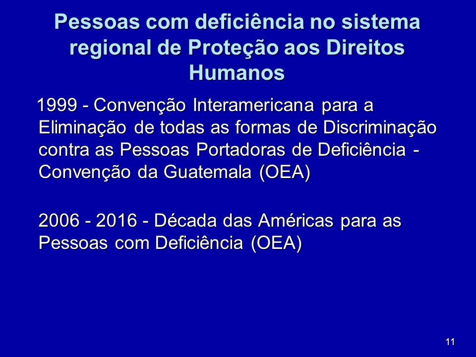 Pessoas com deficiência no sistema regional de Proteção aos Direitos Humanos