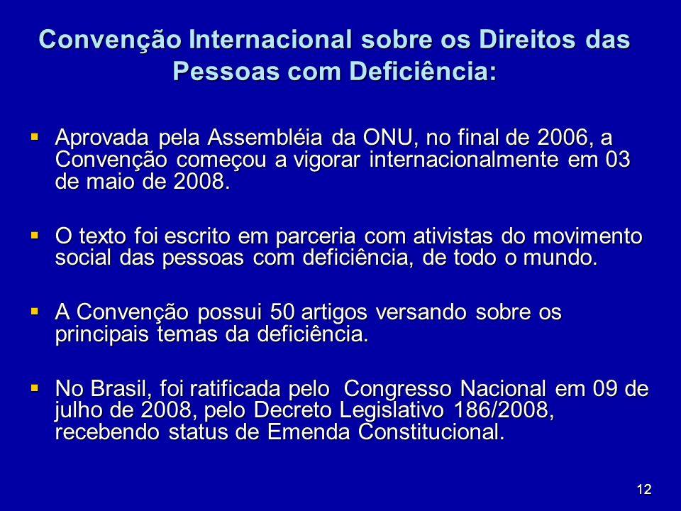 Convenção Internacional sobre os Direitos das Pessoas com Deficiência: