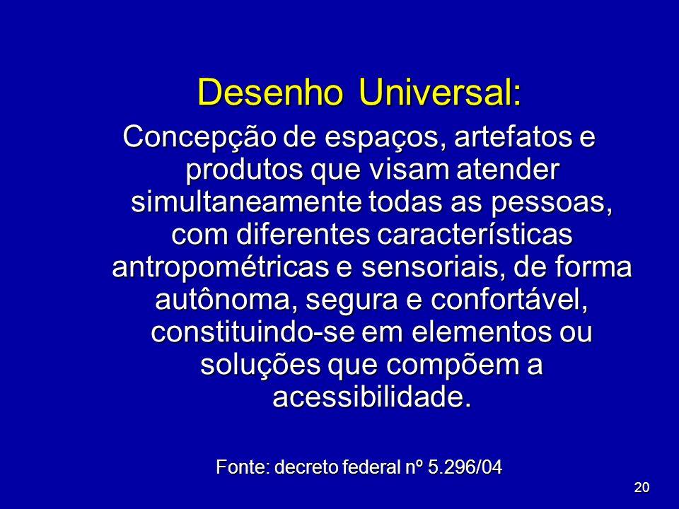 Fonte: decreto federal nº 5.296/04