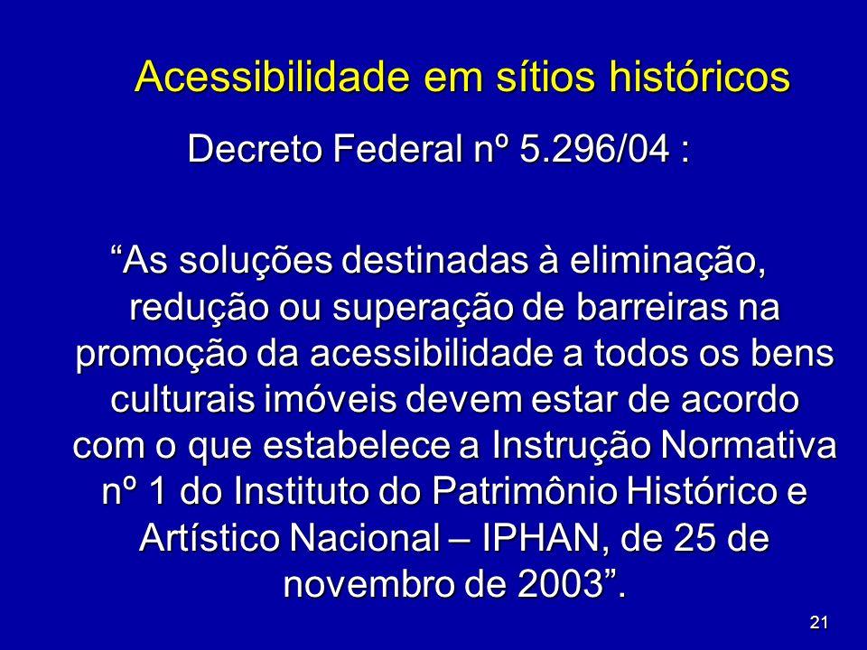Acessibilidade em sítios históricos