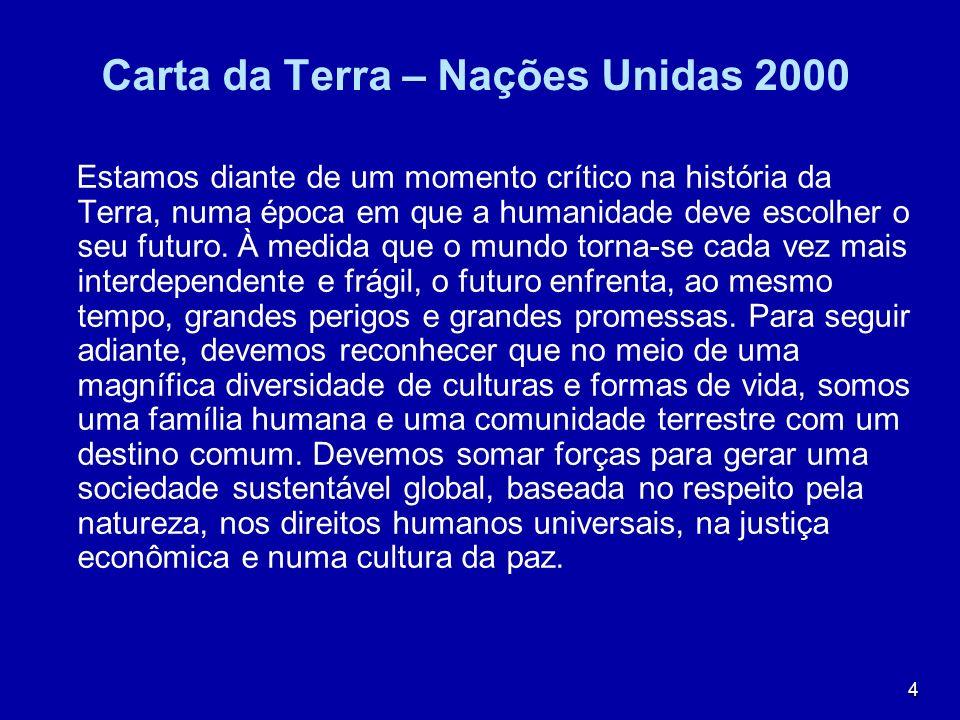 Carta da Terra – Nações Unidas 2000