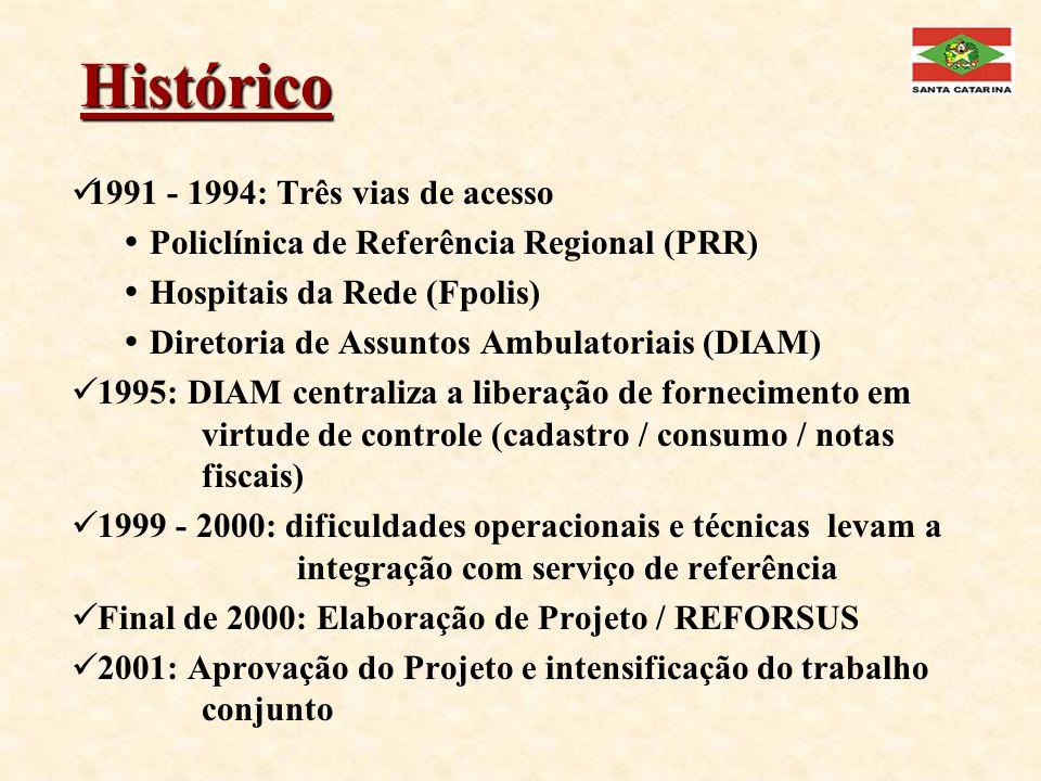 Histórico 1991 - 1994: Três vias de acesso