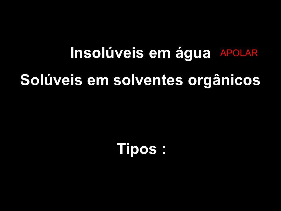 Solúveis em solventes orgânicos