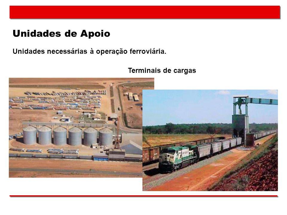 Unidades de Apoio Unidades necessárias à operação ferroviária.