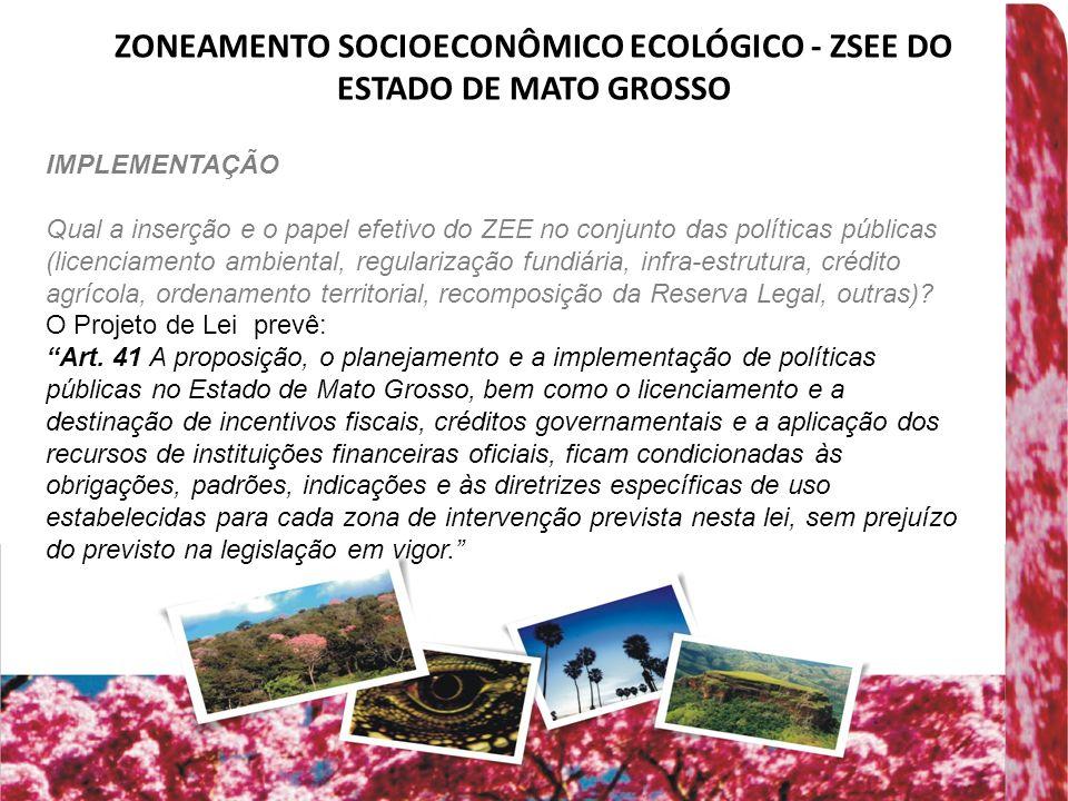 ZONEAMENTO SOCIOECONÔMICO ECOLÓGICO - ZSEE DO ESTADO DE MATO GROSSO